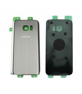 Tapa trasera cristal trasero para Samsung Galaxy S7 Edge G935F Plata Back Cover