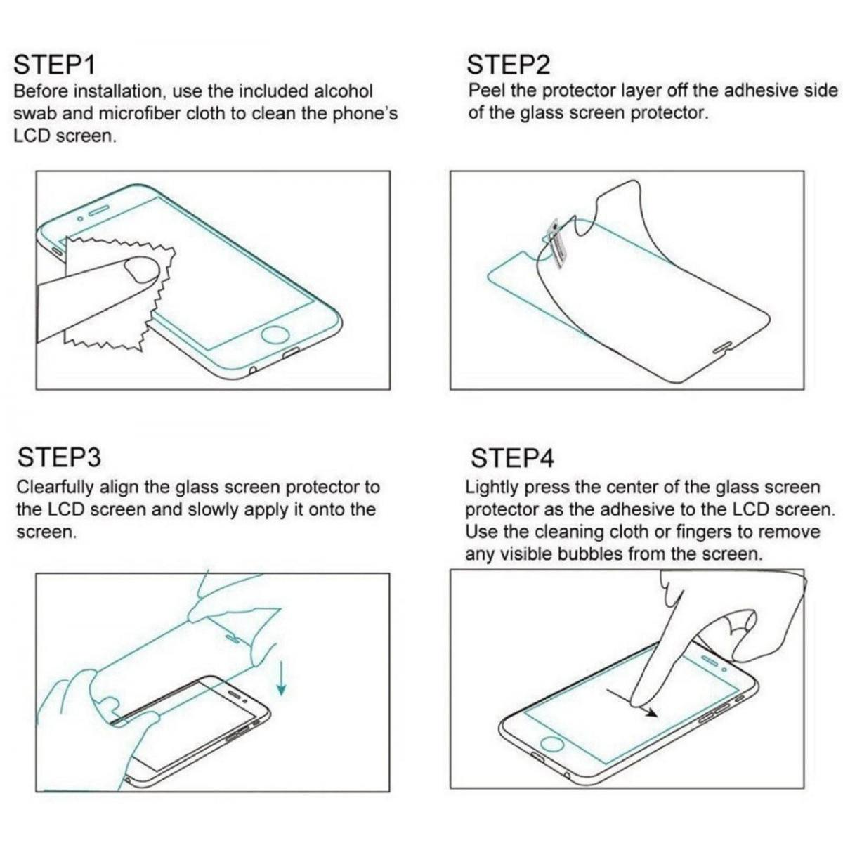Protector de Pantalla Cristal Templado Vidrio 9H Premium para Apple Iphone 11 2