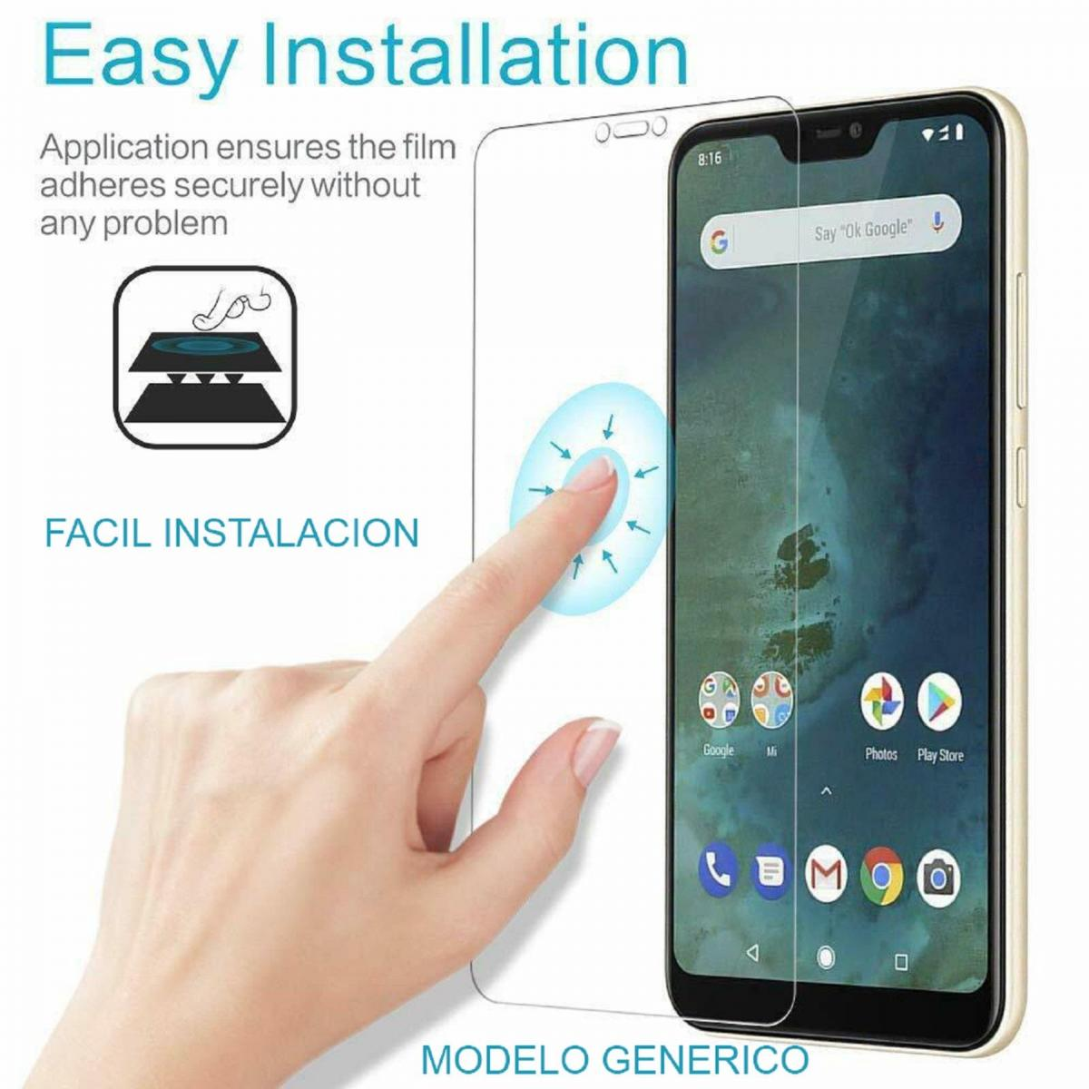 Protector de Pantalla Cristal Templado Vidrio 9H Premium para Apple Iphone 11 10