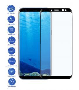 Protector de Pantalla para Galaxy S8 Plus 6.2 Negro Completo Cristal Templado