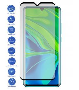 Protector de pantalla Xiaomi Note 10 Lite NEGRO de Cristal Templado Vidrio 9H para movil - Todotumovil