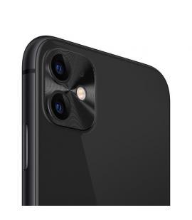 Protector para lente de cámara Iphone 11 anti arañazos y golpes en color negro compatible con fundas