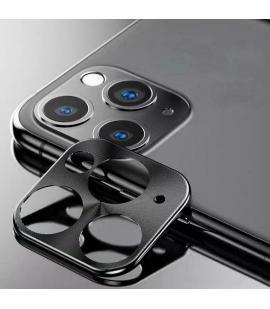 Protector para lente de cámara Iphone 11 Pro/11 Pro Max anti arañazos y golpes en color negro compatible con fundas