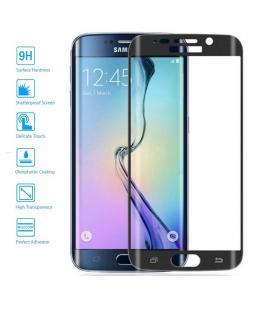 Protector de Cristal Templado Curvo para Samsung Galaxy S6 Edge Plus Color Negro