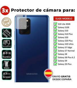3X Protector de cámara para Samsung Galaxy S7 S8 S9 S10 S20 S10e Normal Edge Lite Ultra Plus 2020