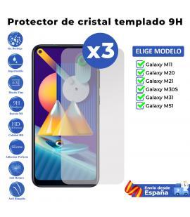 3X Protector de pantalla para Xiaomi Mi 11 10 10T 9T 9 SE Note Lite Pro. Vidrio de cristal templado transparente para movil