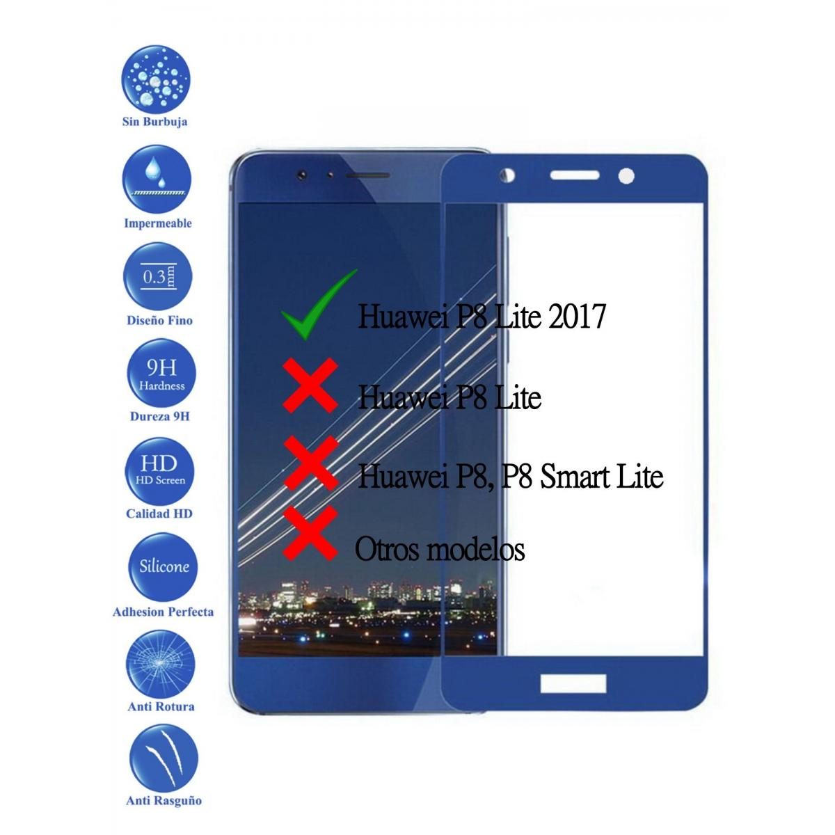 3ff29f149ca Protector de Pantalla Cristal Templado Completo para Huawei P8 Lite ...