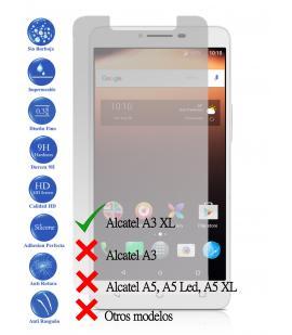 Protector de Pantalla Cristal Templado Vidrio 9H Premium para Alcatel A3 XL