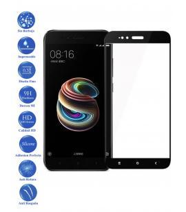 Protector de Pantalla Cristal Templado Completo para Xiaomi MI A1 y 5X Negro