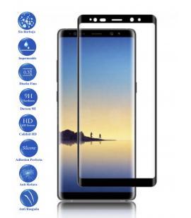 Protector de Pantalla Cristal Templado Completo para Samsung Galaxy Note 8 Negro