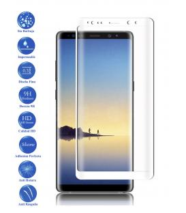 Protector de Pantalla Cristal Templado Completo Samsung Galaxy Note 8 Blanco