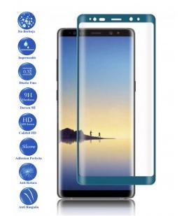 Protector de Pantalla Cristal Templado Completo para Samsung Galaxy Note 8 Azul