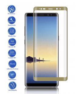 Protector de Pantalla Cristal Templado Completo Samsung Galaxy Note 8 Dorado