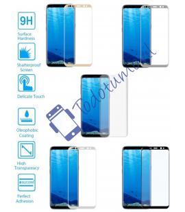 Protector de Cristal Templado Completo 3D 9H para Samsung Galaxy S8 Elije Color