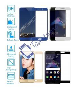 Protector de Cristal Templado Completo 9H para Huawei P8 Lite 2017 Elige Color