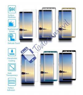 Protector de Cristal Templado Completo 9H para Samsung Galaxy Note 8 Elige Color
