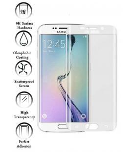 Kit Protector de Cristal Templado Curvo para Samsung Galaxy S6 Edge Blanco