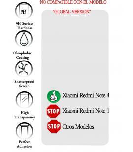 Kit Protector de Pantalla Cristal Templado Vidrio para Xiaomi redmi note 4