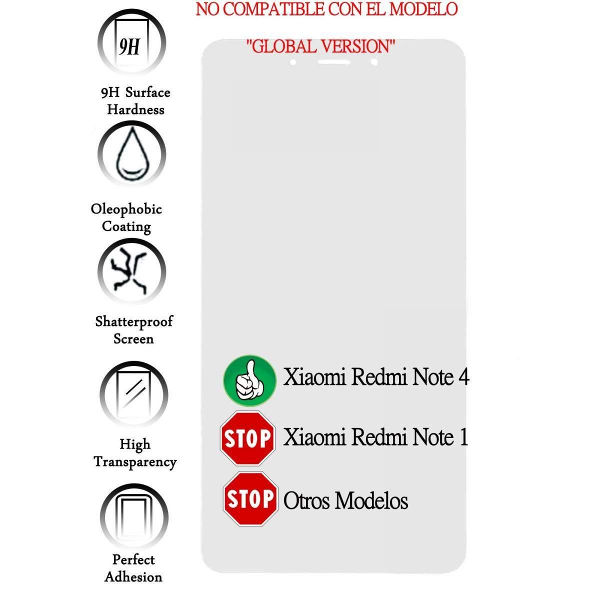 Kit-Protector-de-Pantalla-Cristal-Templado-Vidrio-para-Xiaomi-redmi-note-4