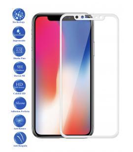 Protector de Pantalla Cristal Templado Completo para Apple Iphone X 10 Blanco