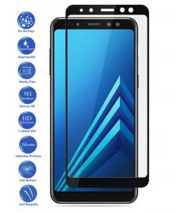 Protector de Pantalla Cristal Templado Completo Samsung Galaxy A8 2018 Negro