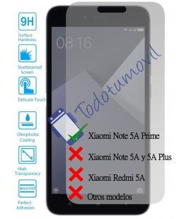 Lote Protector de Pantalla Cristal Templado para Xiaomi Redmi Note 5A Prime