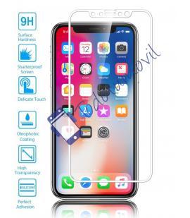 Lote Protector de Pantalla Cristal Templado Completo Apple Iphone X 10 Blanco