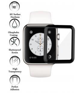 Kit Protector de Cristal Templado Completo Apple Watch Series 3 38 mm Negro