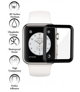 Kit Protector de Cristal Templado Completo Apple Watch Series 3 42 mm Negro