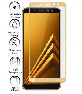 Kit Protector de Cristal Templado Completo Samsung Galaxy A8 2018 Dorado