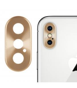 Protector Aro Anillo de metal para camara y lente Apple Iphone X 10 Color Oro
