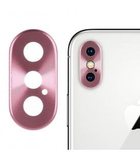 Protector Aro Anillo de metal para camara y lente Apple Iphone X 10 Color Rosa