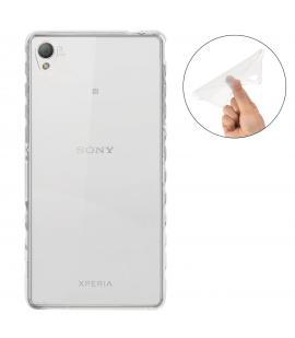 Funda de gel TPU carcasa silicona para Sony Ericsson Xperia M4 Transparente