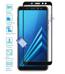 Lote Protector de Cristal Templado Completo Samsung Galaxy A6 Plus Negro