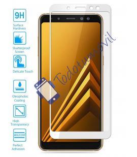 Lote Protector de Cristal Templado Completo Samsung Galaxy A6 Plus Blanco