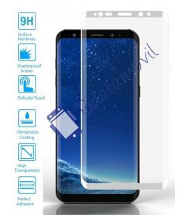 Lote Protector de Pantalla Cristal Templado Completo Samsung Galaxy S9 Blanco
