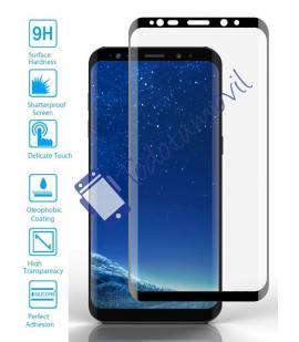 Lote Protector de Pantalla Cristal Templado Completo Samsung Galaxy S9 Negro