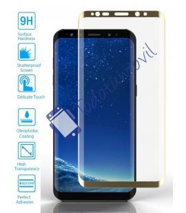 Lote Protector de Pantalla Cristal Templado Completo Samsung Galaxy S9 Dorado