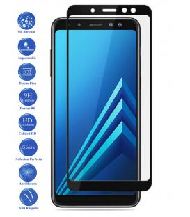 Protector de Pantalla Cristal Templado Completo Samsung Galaxy A6 Plus Negro