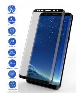 Protector de Pantalla Cristal Templado Completo para Samsung Galaxy S9 Negro
