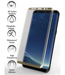 Kit Protector de Cristal Templado Completo Samsung Galaxy S9 Plus Dorado
