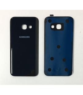 Tapa trasera de bateria cristal trasero para Samsung Galaxy A3 2017 Negro