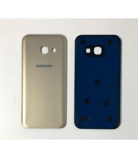 Tapa trasera de bateria cristal trasero para Samsung Galaxy A3 2017 Oro