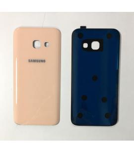 Tapa trasera de bateria cristal trasero para Samsung Galaxy A3 2017 Oro Rosa