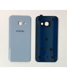 Tapa trasera de bateria cristal trasero para Samsung Galaxy A3 2017 Azul
