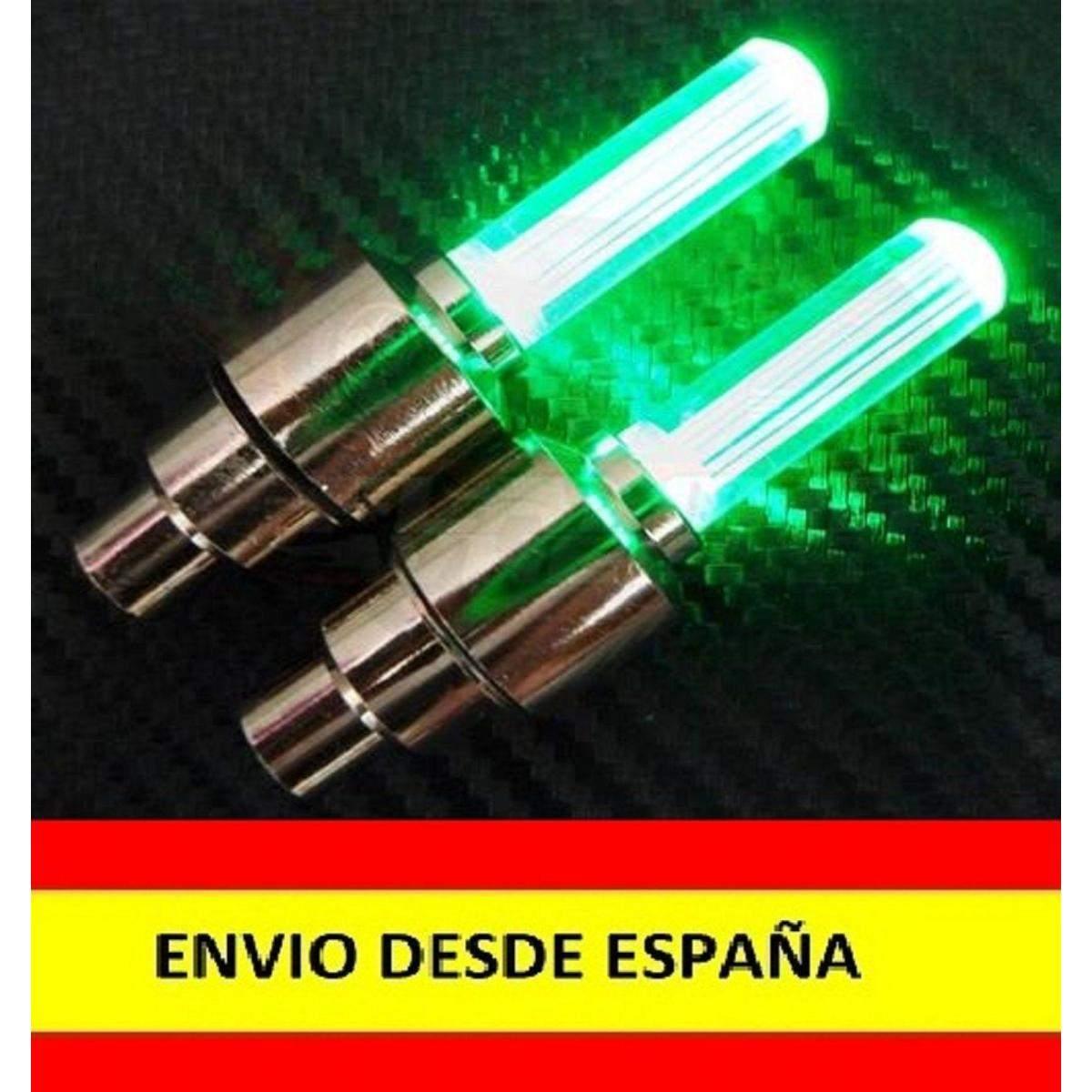 2x-Tapon-Luz-Led-para-valvula-Llanta-de-Rueda-Coche-Moto-Bici-Bicicleta-LUCES