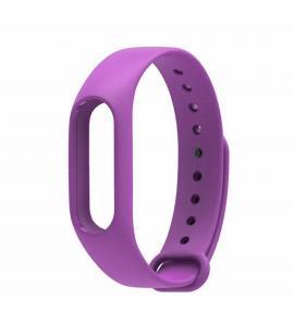 Recambio de correa de silicona para pulsera reloj Xiaomi Mi Band 2 Color Morado