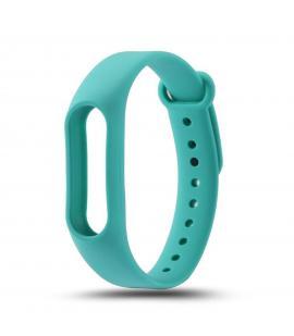 Recambio de correa de silicona para pulsera reloj Xiaomi Mi Band 2 Color Azul Turquesa