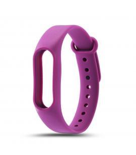 Recambio de correa de silicona para pulsera reloj Xiaomi Mi Band 3 Color Morado