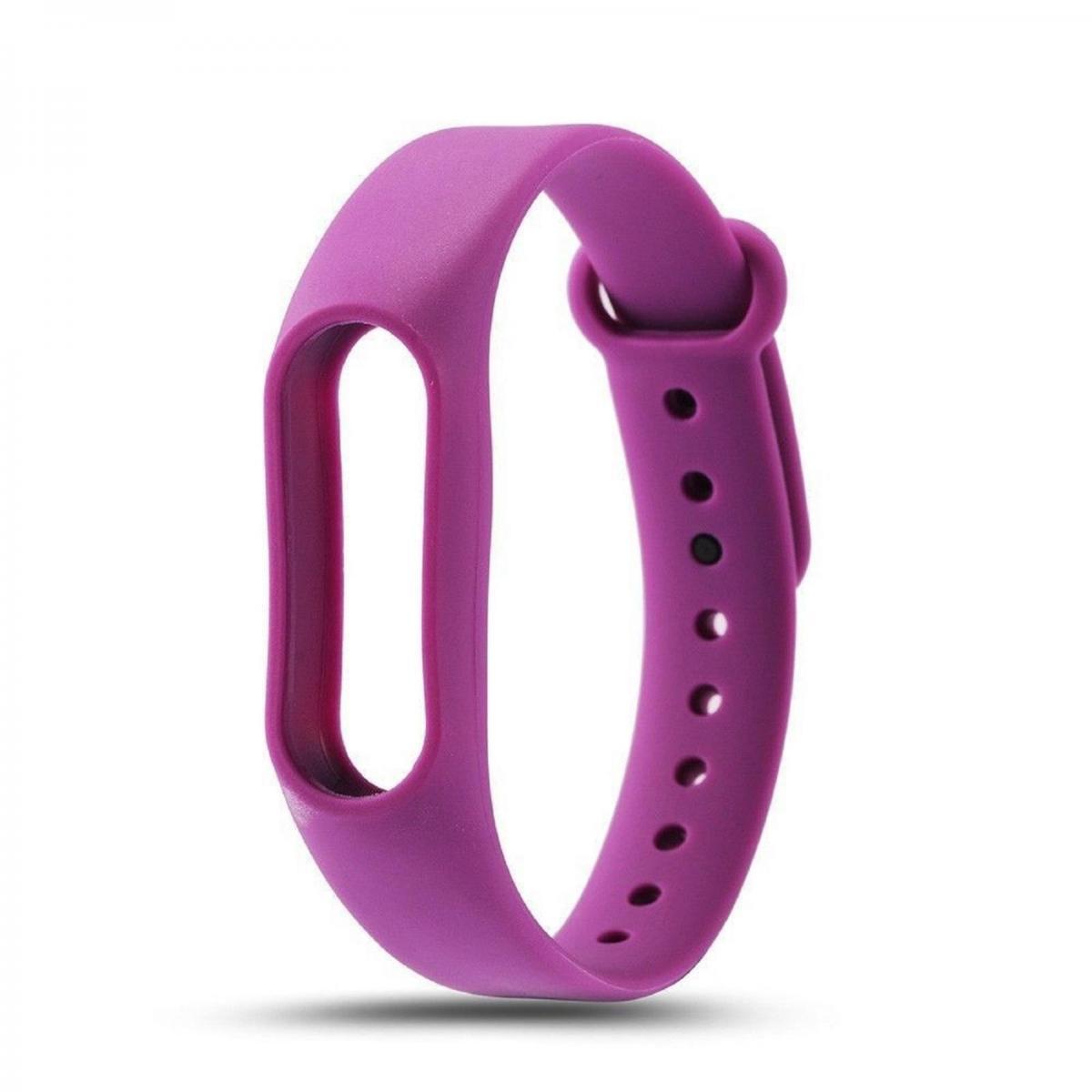 74f1f821aa5a ... correa de silicona para pulsera reloj Xiaomi Mi Band 3 Color Morado.  Recambio ...